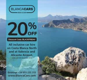 Car hire BlackFriday discount codes Villajoyosa