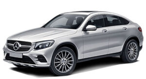 Luxury Mercedes GLC Coupe car hire Lliber